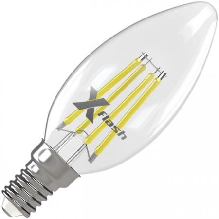 Лампа X-FLASH XF-E14-FL-C35-4W-4000K-230V 4Вт