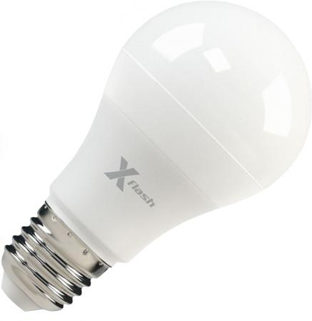 Лампа X-FLASH XF-E27-A60-P-8W-4000K-12V Груша. E27. 4000К. 670лм.X6 лампа 43521 x flash