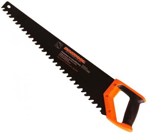 Ножовка SANTOOL 030121-550 550мм по пенобетону защитн. покр. двухкомпонентная ручка ножовка matrix 23380 по пенобетону 500мм