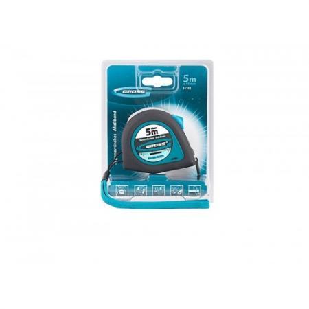 Рулетка GROSS 31102 ergonomisch 5м x 19мм магнитный обрезиненный зацеп цена
