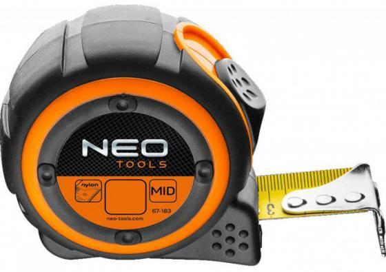 Рулетка NEO 67-185 стальная лента 5м x 25мм магнит цены