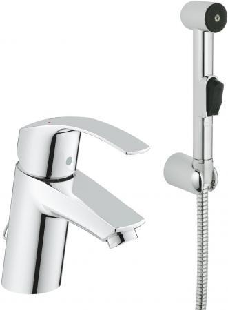 Смеситель для раковины GROHE EUROSMART 23124002 однорычажный цепочка гиг.душ настенный смеситель с гигиеническим душем grohe eurosmart хром 23124002
