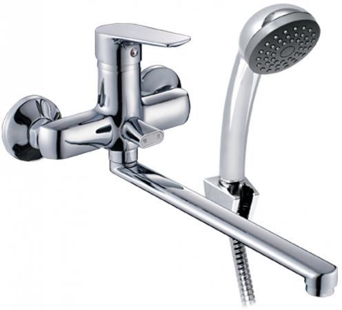 Смеситель для ванны KONNER NRD1600 с длинным изливом и аксессуарами смеситель для ванны konner lingen lgn1600