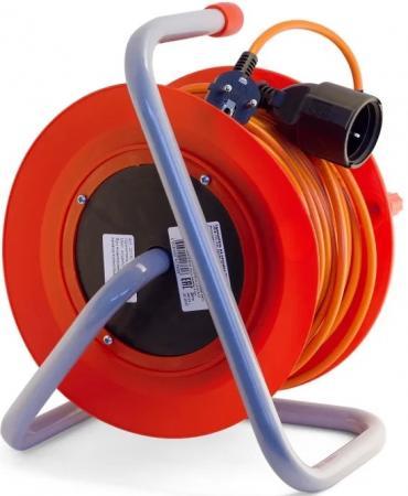 Удлинитель LUX К1-О-50 силовой на катушке пвс 2x0.75 50м 6А выносная розетка б/з силовой удлинитель на катушке inforce к1 о 50 50 м 22050