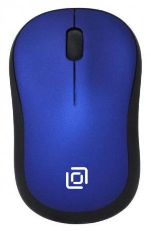 Мышь беспроводная Oklick 655MW чёрный синий USB мышь oklick 115s black red usb