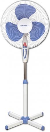 5553-2 Вентилятор напольный FIRST, 40 Вт, 16/40 см, 3 скор., 102 луча, поворот, синий