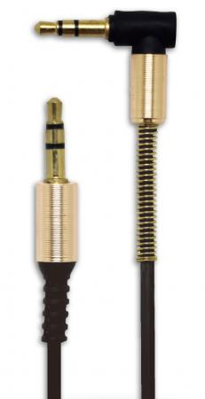 Belsis Кабель Jack 3.5 mm г-образная вилка - Jack 3.5 вилка, черный, стерео-аудио, 1.0 м (BS3010) кабель belsis bl1107 jack 3 5 mm jack 3 5 mm вилка вилка стерео 0 75 м черный