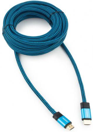 Фото - Кабель HDMI 15м Cablexpert CC-G-HDMI01-15M круглый синий кабель hdmi 15м cablexpert cc g hdmi02 15m круглый черный красный cc g hdmi02
