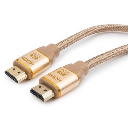 купить Кабель HDMI 3м Cablexpert CC-G-HDMI03-3M круглый золотистый CC-G-HDMI03 дешево