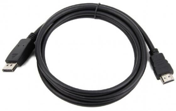 Фото - Кабель DisplayPort Cablexpert CC-DP-HDMI-7.5M круглый черный кабель microusb 1 8м cablexpert cc u musb01gd 1 8m круглый золото