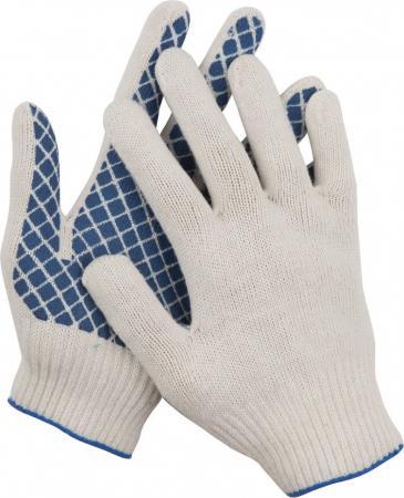 Перчатки трикотажные DEXX, 7 класс, х/б, обливная ладонь [114001] перчатки stayer 11408 xl мaster трикотажные обливная ладонь из латекса х б 13 класс l xl