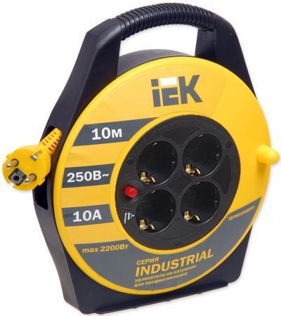 Удлинитель IEK WKP15-16-04-10 4 розетки 10 м