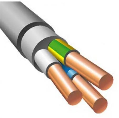 Кабель силовой NUM Калужский кабельный завод 3x1.5 мм круглый 100м серый ГОСТ