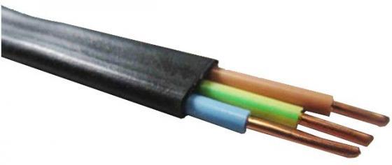 Кабель силовой ВВГ-Пнг (А) Калужский кабельный завод 3x1.5 мм плоский 100м черный ГОСТ