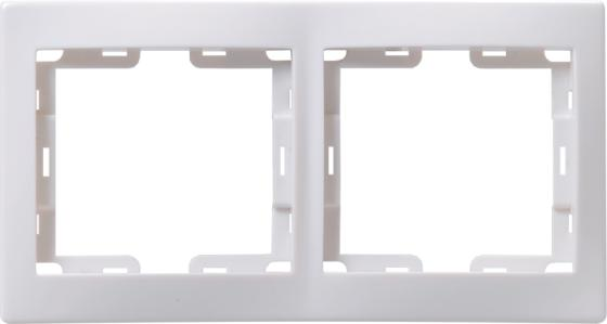 Iek EMK20-K01-DM РГ-2-КБ Рамка 2местн. горизонт. КВАРТА (белый)
