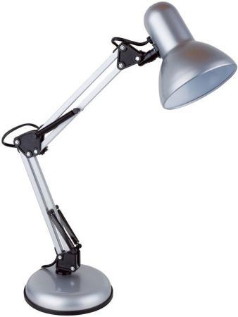 Светильник настольный Lucia Юниор (465-S) на подставке E27 серебристый светильник настольный lucia юниор на подставке 40вт черный [465 b]