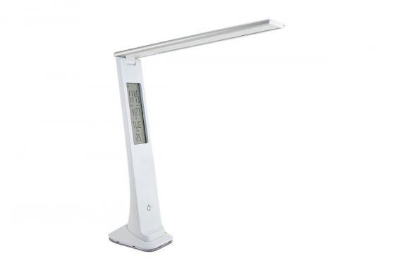 Светильник настольный Lucia Carina (L540-W) на подставке белый/серебристый 2Вт светильник настольный supra sl tl509 на подставке 10вт серебристый [12595]
