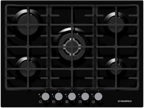 Варочная панель газовая Maunfeld MGHE.75.78B черный газовая варочная панель neff t27cs59s0