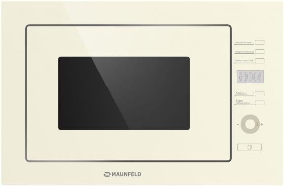 Встраиваемая микроволновая печь Maunfeld MBMO.25.7GI 900 Вт бежевый микроволновая печь bbk 23mws 927m w 900 вт белый