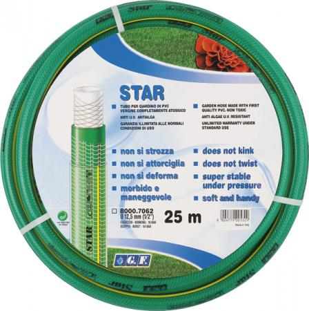 Шланг садовый GF Star 7062 25м 1/2 пвх армированный 3-х слойный цена