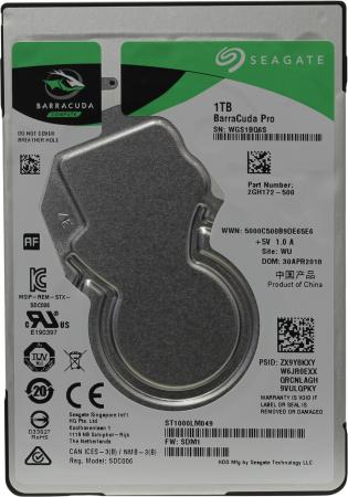 """Жесткий диск для компьютера 2.5"""" 1 Tb 7200rpm 128Mb Seagate Barracuda Pro SATA III 6 Gb/s ST1000LM049"""