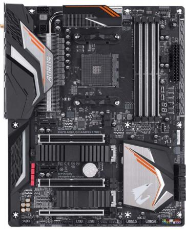 Материнская плата GigaByte X470 AORUS GAMING 7 WIFI Socket AM4 AMD X470 4xDDR4 3xPCI-E 16x 2xPCI-E 1x 6 ATX Retail материнская плата gigabyte ga 970a ds3p socket am3 amd 970 4xddr3 2xpci e 16x 2xpci 3xpci e 1x 6xsataiii atx retail