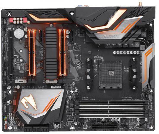 Материнская плата GigaByte X470 AORUS GAMING 5 WIFI с процессором AMD AMD X470 4xDDR4 3xPCI-E 16x 2xPCI-E 1x 6 ATX Retail материнская плата gigabyte ga 970a ds3p socket am3 amd 970 4xddr3 2xpci e 16x 2xpci 3xpci e 1x 6xsataiii atx retail