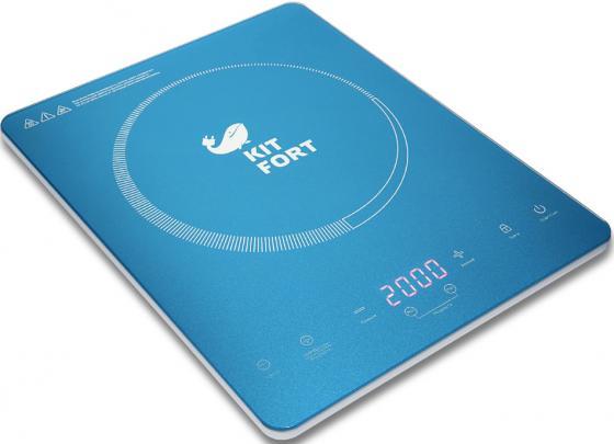 Плитка электрическая KITFORT КТ-110-2 Ultra Slim индукционная 2000Вт 370х290x38мм электрическая настольная плитка jarkoff jk 7222w 60976