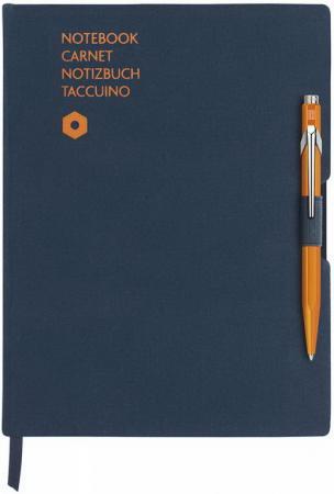 Записная книжка Carandache Office (8491.404) синий A5 192стр. в компл.:ручка шариковая 849 оранжевый