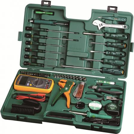 Набор инструментов SATA 09535 53пр. для электротехнических работ пласт. кейс. набор инструментов sata 09006