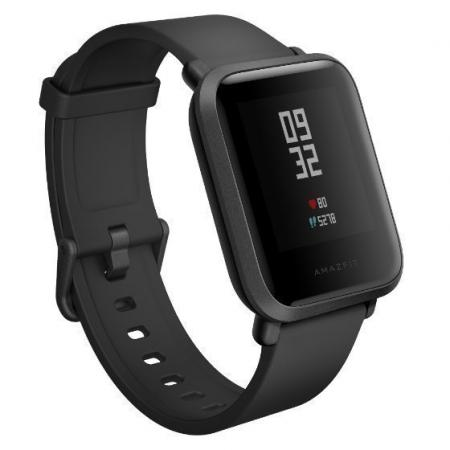 Xiaomi Amazfit Bip Black (Android 4.4, iOS 8 шагомер, пульсометр, компас, GPS,SMS, emai) Фитнес-часы portable multi function sms gprs gps vehicle tracker black