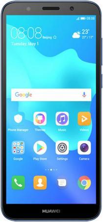 Смартфон Huawei Y5 Prime 2018 синий 5.45 16 Гб LTE Wi-Fi GPS 3G Bluetooth 51092MCP смартфон huawei y5 2018 prime синий 5 16 гб lte wi fi gps 3g dra lx2