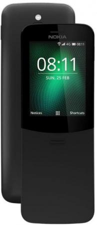 Мобильный телефон NOKIA 8110 4G черный 2.4 4 Гб GPS 4G LTE smc type pneumatic solenoid valve sy5120 4g 01