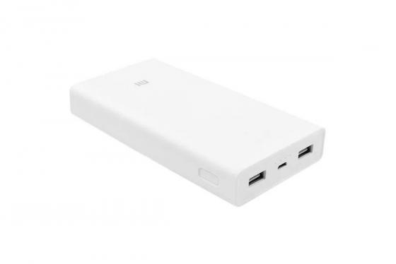 Внешний аккумулятор Power Bank 20000 мАч Xiaomi PLM06ZM белый внешний аккумулятор xiaomi mi power bank 20000 белый