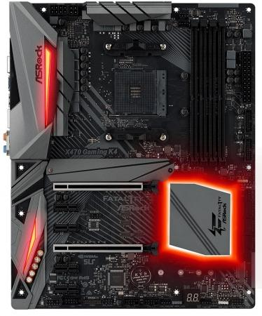 Материнская плата ASRock X470 GAMING K4 Socket AM4 AMD X470 4xDDR4 2xPCI-E 16x 4xPCI-E 1x 6 ATX Retail материнская плата asrock x470 master sli