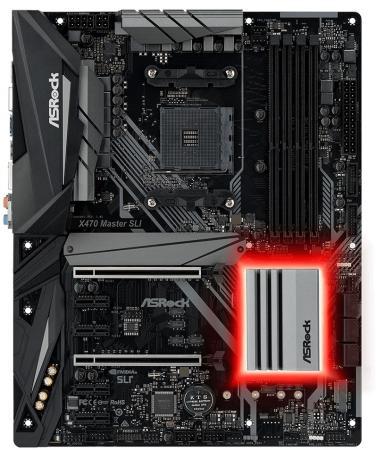 Материнская плата ASRock X470 MASTER SLI Socket AM4 AMD X470 4xDDR4 2xPCI-E 16x 4xPCI-E 1x 6 ATX Retail цена и фото