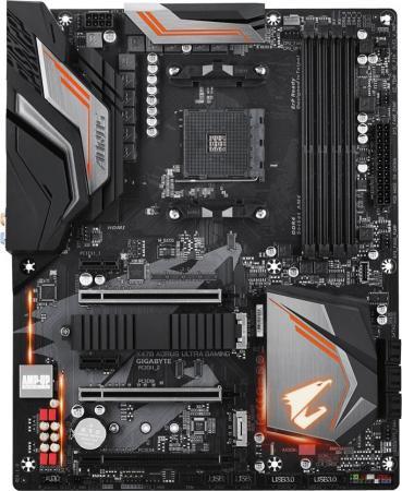 Материнская плата GigaByte X470 AORUS ULTRA GAMING Socket AM4 AMD X470 4xDDR4 3xPCI-E 16x 2xPCI-E 1x 6 ATX Retail материнская плата gigabyte ga 970a ds3p socket am3 amd 970 4xddr3 2xpci e 16x 2xpci 3xpci e 1x 6xsataiii atx retail