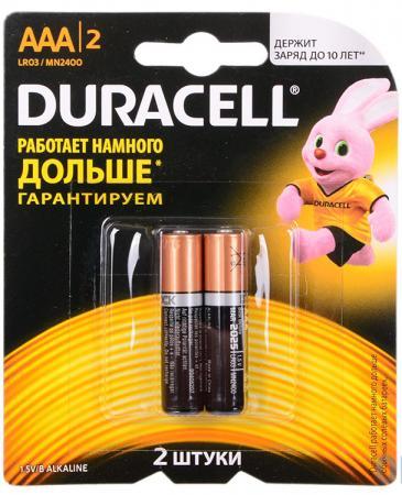 Батарейки DURACELL BASIC AAA 2 шт Б0026812 батарейки duracell аа lr6 2bl basic cn 2 шт