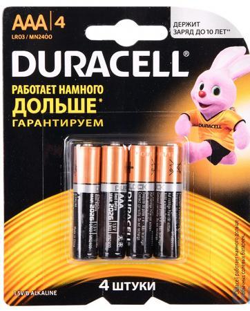Батарейки DURACELL Б0026813 AAA 4 шт батарейки duracell аа lr6 2bl basic cn 2 шт