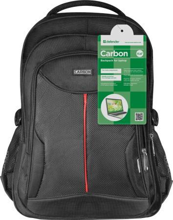 Рюкзак для ноутбука 15.6 Defender Carbon полиэстер черный 26077 сумка для ноутбука 16 defender shiny синтетика полиэстер черный 26097