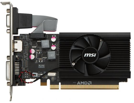 Видеокарта MSI PCI-E R7 240 1GD3 64b LP AMD Radeon R7 240 1024Mb 64bit DDR3 600/1600 DVIx1/HDMIx1/CRTx1/HDCP Ret low profile