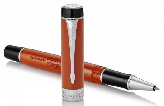 Ручка роллер Parker Duofold T74 (1931380) Big Red CT F черные чернила подар.кор. роллер parker duofold t74 black gt fblack s0690470