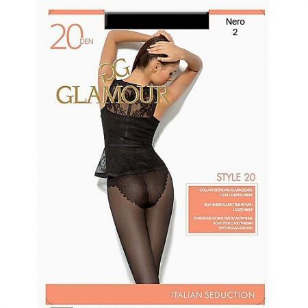 Glamour Колготки Style 20 Nero, 2 колготки glamour glamour gl302fwgjs11