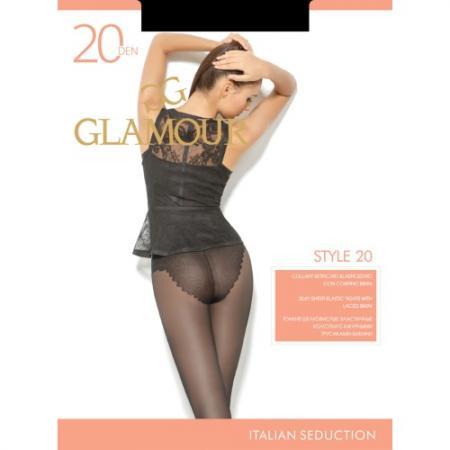 Glamour Колготки Style 20 Nero, 5 журнал glamour style book