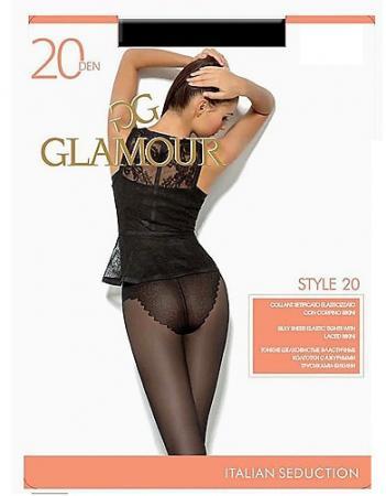 Колготки GLAMOUR Style 5 20 den медный conteколготки жен nuance 20 den натуральный natural r 5