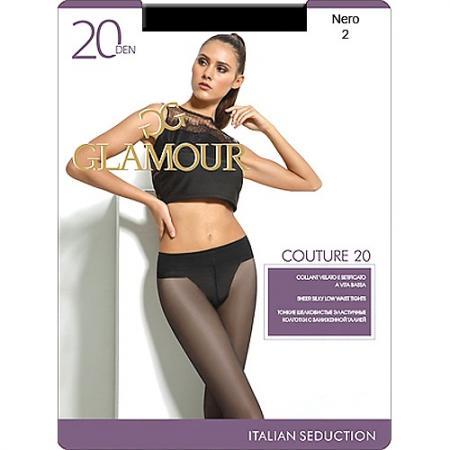 Glamour Колготки Couture 20 Nero, 2 колготки glamour glamour gl302fwgjs11