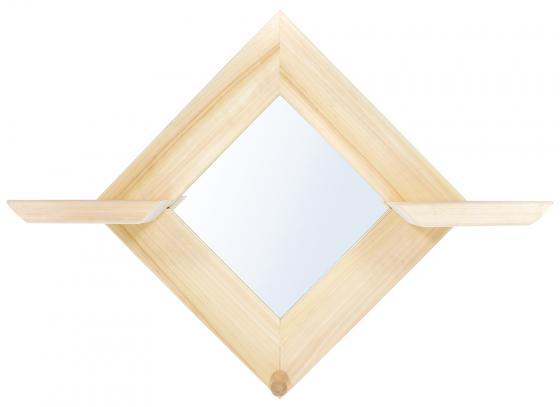 """Зеркало с двумя полочками и вешалкой """"Ромб"""" Банные штучки 32520 цена 2017"""