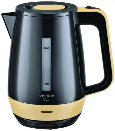 Чайник Viconte VC-3266 черный/бежевый чайник viconte vc 3270 бежевый