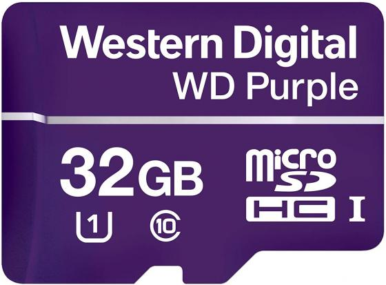 Карта памяти micro SDHC 32GB UHS-I WD Purple microSD WDD032G1P0A карта памяти sdhc micro sony sr 32uya