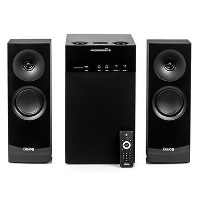 Колонки Dialog Progressive AP-250 BLACK 2.1, 50W+2*15W RMS, Караоке, Bluetooth, FM+USB+SD, Опт.вх.